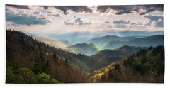 Great Smoky Mountains National Park North Carolina Scenic Landscape Beach Towel