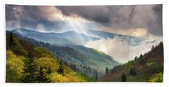 Great Smoky Mountains National Park Scenic Landscape Gatlinburg Tn Beach Sheet