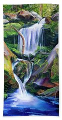 Great Smoky Waterfall Beach Towel