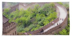 Great Wall At Badaling Beach Towel