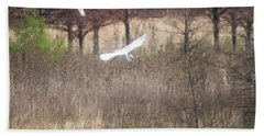 Beach Sheet featuring the photograph Great White Egret - 3 by David Bearden