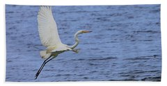 Great White Egret Beach Towel