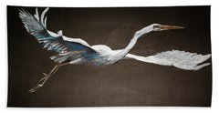 Great White Heron Beach Towel