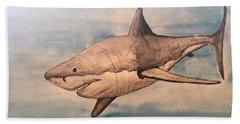 Great White Shark Beach Sheet