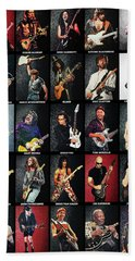 Greatest Guitarists Of All Time Beach Towel