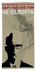 Greatest Job In The World - Mad Men Poster Roger Sterling Quote Beach Sheet