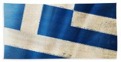 Greece Flag Beach Sheet