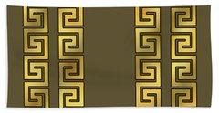 Greek Gold Pattern - Chuck Staley Beach Sheet by Chuck Staley