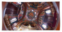 Greek Orthodox Church Interior Beach Sheet