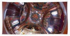 Greek Orthodox Church Interior Beach Sheet
