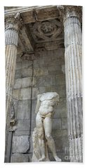 Beach Towel featuring the photograph Greek Statue by Patricia Hofmeester