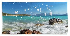 Greek Surf Spray Beach Towel