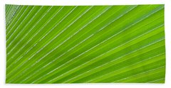 Green Abstract No. 1 Beach Sheet
