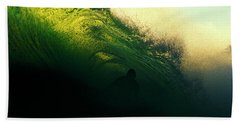 Green And Black Beach Towel
