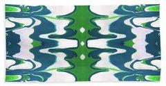 Green And Blue Swirl- Art By Linda Woods Beach Towel