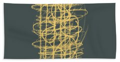 Green And Gold 1 Beach Towel