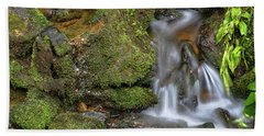 Beach Sheet featuring the photograph Green And Mossy Water Flow by James BO Insogna