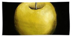 Green Apple Still Life 2.0 Beach Towel by Michelle Calkins