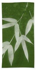 Green Bamboo 1-art By Linda Woods Beach Towel