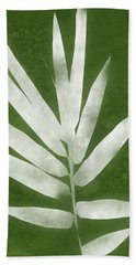 Green Bamboo 2- Art By Linda Woods Beach Towel