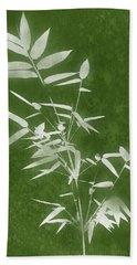 Green Bamboo 3- Art By Linda Woods Beach Towel