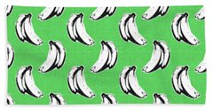 Green Bananas- Art By Linda Woods Beach Towel