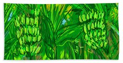 Green Bananas Beach Towel
