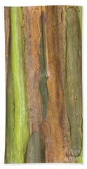 Beach Towel featuring the photograph Green Bark 3 by Werner Padarin
