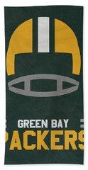 Green Bay Packers Vintage Art Beach Sheet