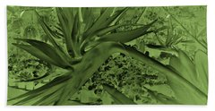 Beach Sheet featuring the photograph Green Bird Of Paradise by Nareeta Martin