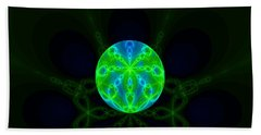 Green Blue World Fractal  Beach Sheet