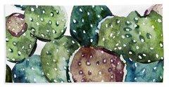 Green Cactus  Beach Towel