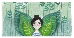 Green Beach Towel by Carolina Parada