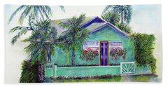 Green Cottage Beach Towel