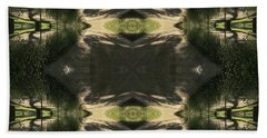 Green Design Beach Towel by Nora Boghossian