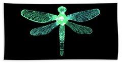 Green Dragonfly Beach Towel