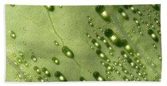 Green Drops Beach Towel