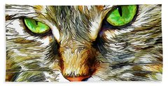 Green-eyed Monster Beach Towel
