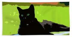 Green Eyes Beach Towel