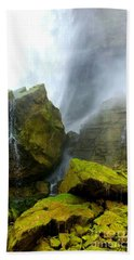 Beach Towel featuring the photograph Green Falls by Raymond Earley
