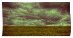 Green Fields 3 Beach Sheet by Douglas Barnard