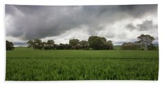 Beach Towel featuring the photograph Green Fields 5 by Douglas Barnard