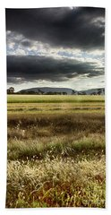 Beach Towel featuring the photograph Green Fields 6 by Douglas Barnard