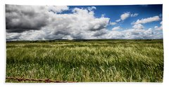 Beach Towel featuring the photograph Green Fields by Douglas Barnard