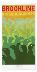 Green Fields Of Brookline Beach Towel