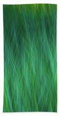 Green Fire 3 Beach Towel