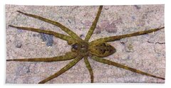 Green Fishing Spider Beach Towel
