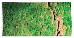 Green Flaking Brickwork Beach Towel