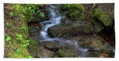 Beach Sheet featuring the photograph Green Flowing Stream by James BO Insogna