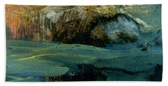 Beach Towel featuring the painting Green Fog by Nancy Kane Chapman